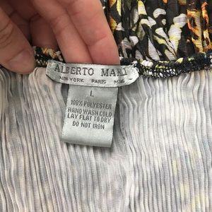 Alberto Makali Tops - Alberto Makali large ruched animal print tunic top